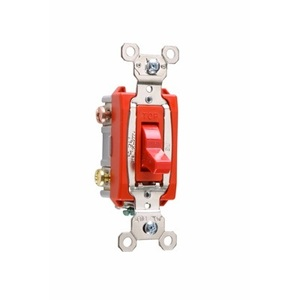Pass & Seymour PS20AC3-RED Three-Way, 20 Amp, 120/277 Volt, Red
