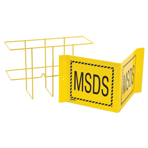 Brady 17463 MSDS Rack and Sign, Wall Mounted