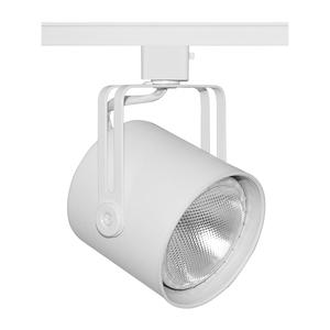 Juno Lighting T425-WHB-WH Track Head, PAR30, 1 Lamp, 75W, White, White Baffle