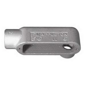 "Appleton LL28 Conduit Body, Type: LL, 3/4"", Form 8, Grayloy Iron"
