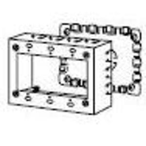 Wiremold V5747-3 Shallow Switch/Receptacle Box, 3-Gang, 500/700 Series Raceway, Ivory