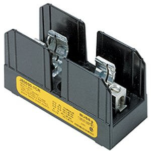 Eaton/Bussmann Series J60100-3CR Fuse Block, Class J, 3-Pole, 61-100A, 600V, Box Lug w/Retaining Clip