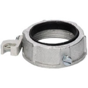"""Steel Electric Products 25BI4L Grounding Bushing, 1-1/2"""", Threaded, Insulated, Malleable Iron"""