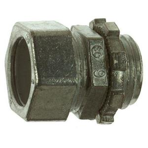 "Thomas & Betts TC-211-SC EMT Compression Connector, 1/2"", Zinc Die Cast, Concrete Tight"