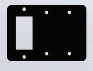 Mulberry Metal 93383 Combo Wallplate, 3-Gang, Decora/Blank/Blank, Stainless Steel