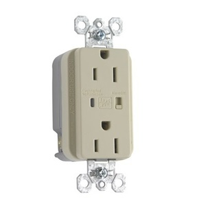 Pass & Seymour 5262-ISP Heavy Duty TVSS Receptacle, 15A, 125V, Ivory, 5-15R