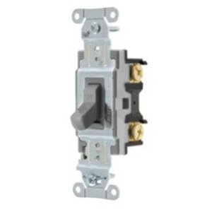 Hubbell-Kellems CSB120GY Specification, Commercial Switch, Single Pole, 20A, Gray