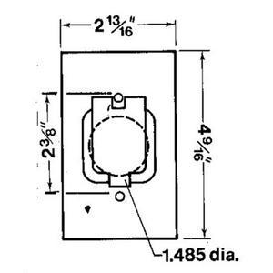 Red Dot CCSV Weatherproof Cover, 1-Gang, Type: Single Receptacle, Aluminum