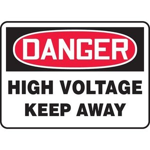 "Panduit PAS1014D7136 10.00"" x 14.00"" DANGER HIGH VOLTAGE KE.. *** Discontinued ***"