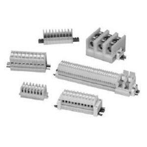 Square D 9080GR6 Terminal Block, Feed Through, 60A, 600VAC, 9mm, White, Box Lug