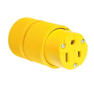 Pass & Seymour D0653 Straight Blade Connector, 50A, 250V, 6-50R, Yellow