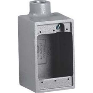"Hubbell-Killark FD-2 FD Device Box, Dead-End, 3/4"", Aluminum"