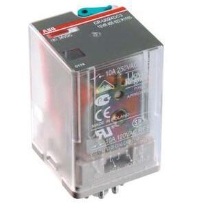 ABB 1SVR405622R2100 General Purpose Relay, 11 Pin, 3PDT, 120V AC