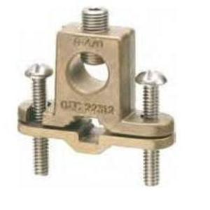"Arlington 718DB Bare Wire Ground Clamp, Closed Lug, 3/8 to 1"", 8 to 4/0 AWG, Bronze"