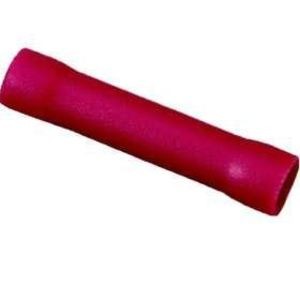 Ideal 83-9281 Butt Connector, Vinyl Insulated, 22 - 18 AWG, Red, Pack of 25