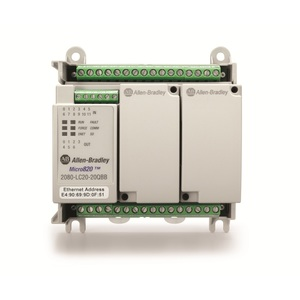 Allen-Bradley 2080-LC20-20QWB Controller, Programmable, 12 Inputs, 8 Outputs, Fixed Terminals