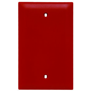 Pass & Seymour TP13-RED Blank Wallplate, 1-Gang, Nylon, Red