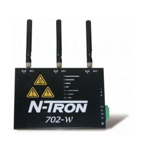 N-TRON 702-W Wireless Radio, Industrial, 1-Port, 3 MIMO Antennas, DIN Rail Mount
