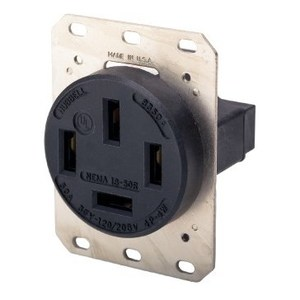 Hubbell-Wiring Kellems HBL7301A RCPT, 4P4W, 60A 120/208V, 18-60R, BK