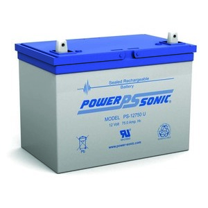 Power-Sonic PS-12750U Rechargeable Sealed Lead Acid Battery, 12V, 75Ah