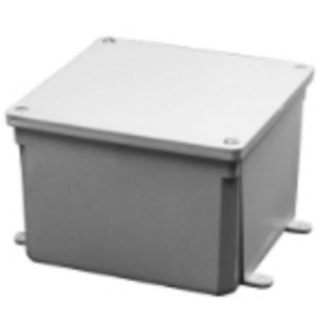 "Multiple 5X5X2-JCT-BOX-W/CVR Junction Box, NEMA 4X, Screw Cover, 5"" x 5"" x 2"""