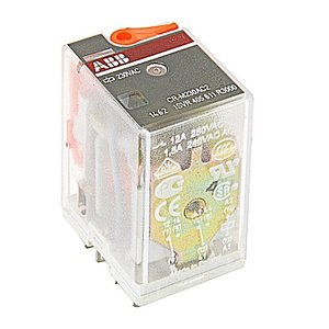 ABB 1SVR405611R3000 Interface Relay, Plug-In, 12A, SPDT, 250VAC Rated, 230VAC Coil