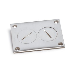 Lew 6304-DP-A Duplex Cover with Screw Plugs, Aluminum