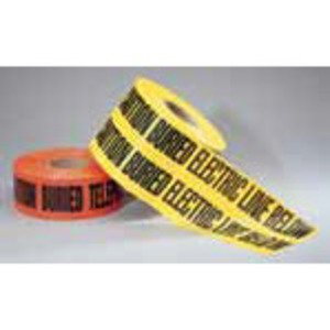"Ideal 42-101 Non-Detectable Underground Caution Tape, 3"" x 1000', Red"