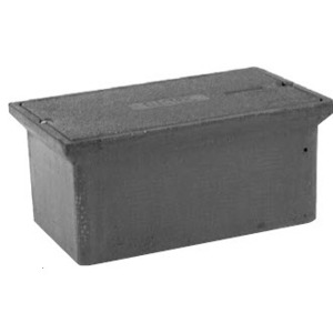 "Hubbell-Quazite PC0608BA06 Stackable Box, 6"" x 8"" x 6"", Open Base, Polymer Concrete"