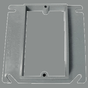 "Cantex EZ03SXA Device Box Cover, 1-Gang, 1/2"" Raised, Non-Metallic"