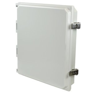 Allied Moulded AMHMI142L Metal Snap Latch Hinged Solid/Opaque Cover