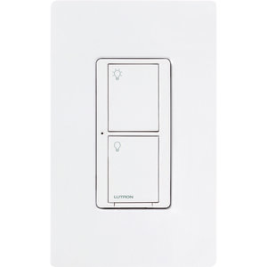 Lutron PD-6ANS-WH Neutral Switch, Wireless, White