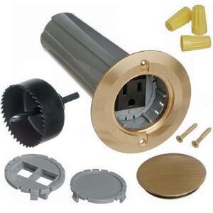 "Carlon E971FBDI-2 Floor Box Assembly, 2-1/4"" Round, Type: Screw Plug, Non-Metallic"