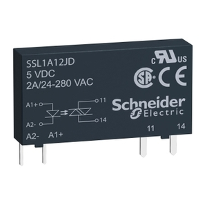 Square D SSL1A12BDR SSR SLIM 1 CHANN 2A@24-280VAC RANDOM 15-30VDC