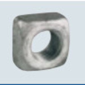 PPC Insulators 1082 Square Nut, Galvanized, 5/8""