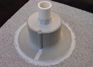 "Chemlink F1354GR E-CURB Diameter Round Kit, 4"", Gray"