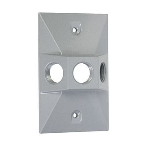 Hubbell-Raco LV130S RAC LV130S 3 HOLE RECT COVER SILVER