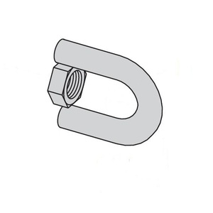 Eaton B-Line B446A-1/2ZN SWIVEL HANGER, FEMALE ONLY, 1/2-IN.-13, ZINC PLATED