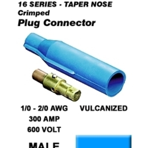 16V22-B BU MALE VULC PLUG TAPER NOSE