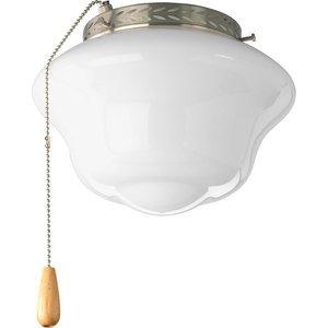 Progress Lighting P2644-09 1-Light Ceiling Fan Light Kit, 100W Incandescent