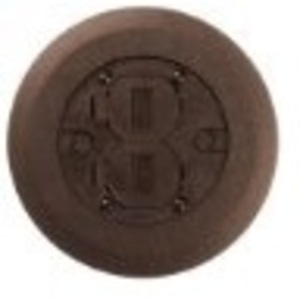 "Wiremold 895P-BRN Round Duplex Receptacle Cover, 5-1/2"" Diameter, Non-Metallic"