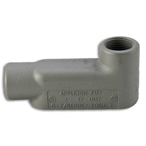 "Appleton LB47 Conduit Body, Type: LB, Form 7, Size: 1-1/4"", Grayloy Iron"