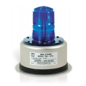 TOMAR Electronics 700-110/PM1-BLU Beacon, Mini Strobe, Single Flash, 120V AC, Blue