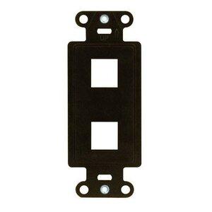 ON-Q WP3412-BR DECOR OUTLET STRAP 2 PORT BR (M10)