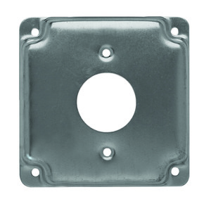 "Hubbell-Raco 801C 4"" Square Exposed Work Cover, (1) Single Receptacle"