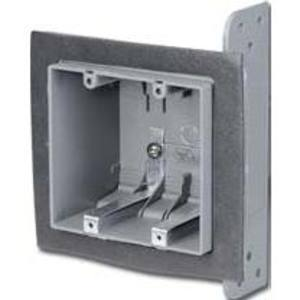 "Thomas & Betts 2-FWSW Switch/Outlet Box, 2-Gang, 2-3/4"" Depth, Offset"