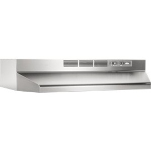 Broan 413004 Range Hood,Broan,Two-Speed,Non-Ducted,Stainless STL HSG,Polymeric BLD,2 AMP