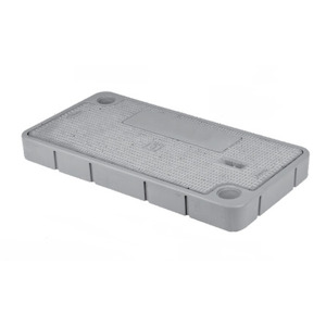 Oldcastle Precast 1020830 Lid, Composite, 23-3/4 Inch x 13-1/4 Inch, Bolt Down