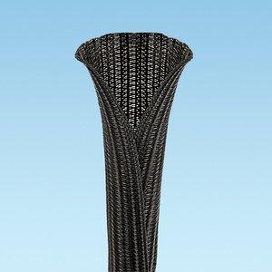 "Panduit SE150PS-LQR0 Pan-Wrap Braided Sleeving, 1.50"" Dia., 7"