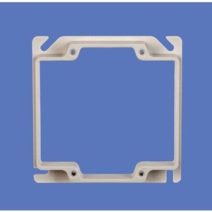 "Allied Moulded 9346 Device Ring, 2-Gang, 1/2"" Offset, Size: 4"" x 4"", Depth: 5/8"""